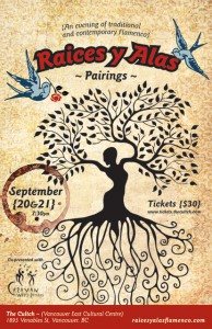 poster image for Pairings flamenco dance at Vancouver East Cultutral Centre